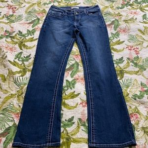 VGS Boot Cut Denim Jean Bling embroidered pockets